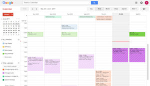 Google calendar to set my mind at ease