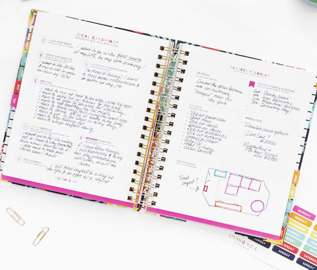 Living Well Planner to schedule your happiness! You don't need to make New Year's Resolutions for that!