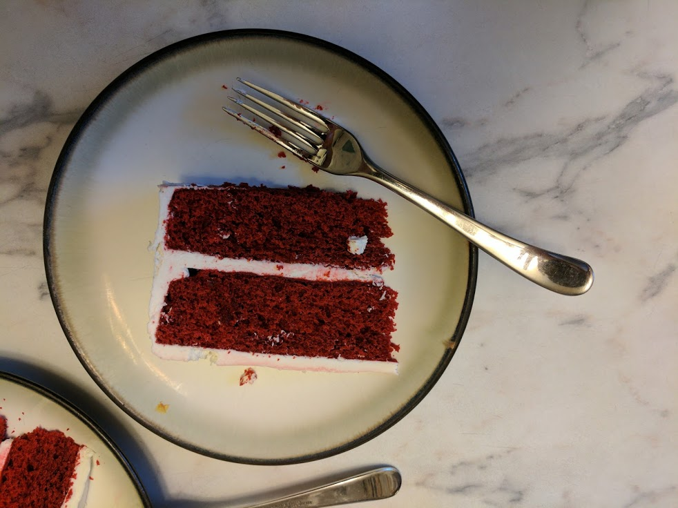 Everything - yes, even red velvet cake - is OK in moderation.